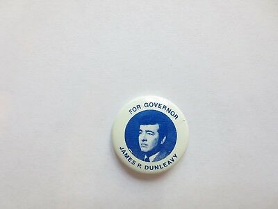 RARE Lithograph Pinback for James P. Dunleavy for Governor of Maine