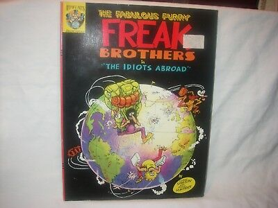 "Freak Brothers Idiots Abroad 8 1/2 "" X 11 1/4"" Shelton & Mavrides Preowned 1987"