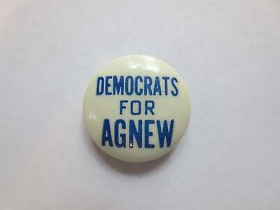 Celluloid Pinback for Spiro Agnew for Governor of Maryland