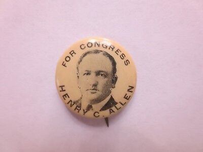 Celluloid Pinback for Henry C. Allen for Congress from New Jersey