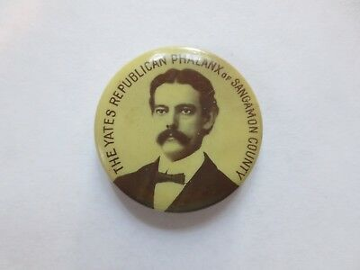Celluloid Pinback for Richard Yates for Governor of Illinois