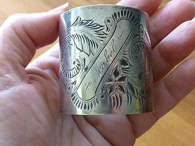 "Antique Victorian Aesthetic 1.75""  Sterling Silver  NAPKIN Ring MABEL"