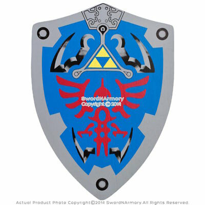 "20"" x15"" HERO Blue Link Hylian Triforce Foam Shield Legend of Zelda LARP Cosplay"
