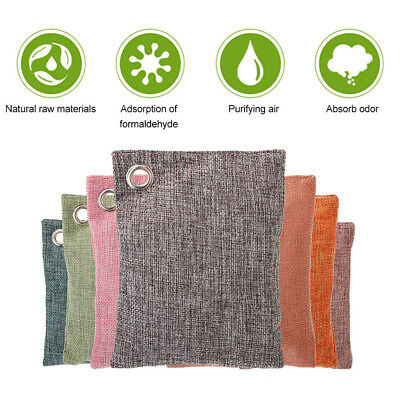 Bamboo Charcoal Activated Carbon Air Freshener Car Deodorant Bag Odor Absorber