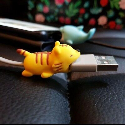 Cute Animal Cable Bite Chompers USB Charger Data Protector Cover for IPhone IPad