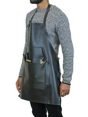 Sandy Beach Leather Split Cowhide Flame Resistant Welding Cooking Apron RRP £200