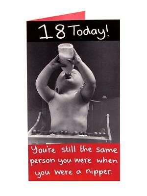 Happy Birthday Age 18th Greetings Card Humour 18 Today New Baby Funny Joke Gift
