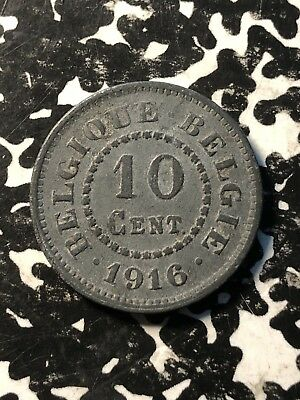 Circulated 6 Available 1916 Belgium 10 Centimes 1 Coin Only