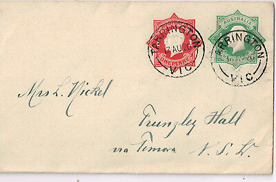 Hochkirch -Tarrington -Staat Victoria - Trungley Hall - Ganzsache 2 Briefmarken