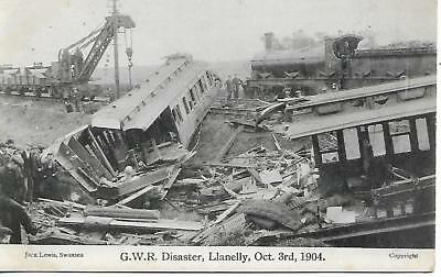 Llanelly Rail Disaster 1904 Bynea Train Crash Removal Trains Ref 961