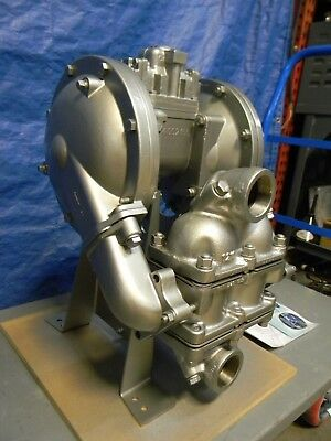 """SandPiper Air Operated Diaphragm Pump Stainless Steel Housing 2"""" Inlet 135 GPM"""