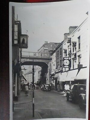 Old Postcard of Stockport,Cheshire,Underbank+Winters Clock.Very Good condition