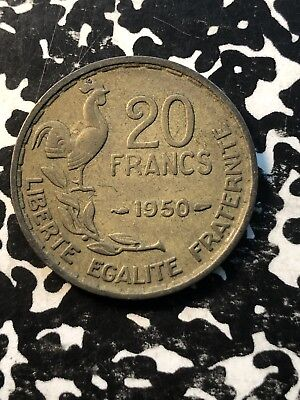 1950 France 20 Francs (3 Available) Circulated (1 Coin Only) KM#917.1 3 Plumes