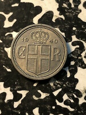 1940 Iceland 25 Aurar (5 Available) Circulated (1 Coin Only)
