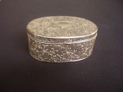 Vintage Silver Plated Hinged Lid Trinket / Pill Box ~Viners Tarnish Protected