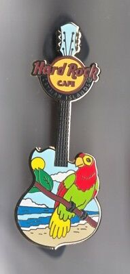 Hard Rock Cafe Pin: Cayman Islands Parrot at the Beach Guitar