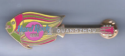 Hard Rock Cafe Pin: Guangzhou Fish Guitar