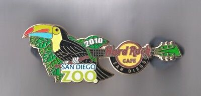 Hard Rock Cafe Pin: San Diego 2010 Toucan Zoo Guitar le300