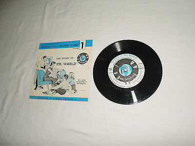 """The Story of Mr. World record Narrated by Lowel Thomas, Jr. (PS/7""""/33rpm) 1962"""