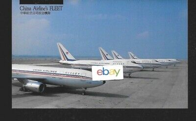 China Airlines Taiwan R.o.c. Fleet 1970's A300-747Sp-747-200 Postcard