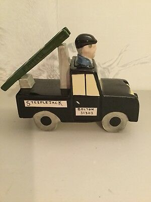 Lorna Bailey - Fred Dibnah MBE - Fred in his Landrover - Limited Edition 1 of 4