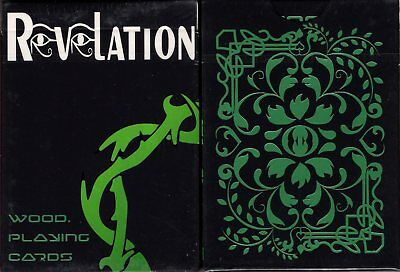 Revelation Wood Black Playing Cards Poker Size Deck Custom Limited Edition New
