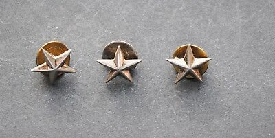 Group of Three WWII Period Sterling USMC/USN General's Stars