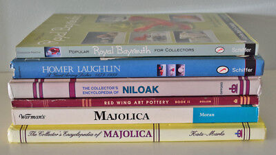 Lot of 6 Art Pottery Collector Encyclopedias and Price Guides