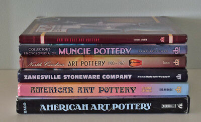 Lot of 6 Art Pottery Collector Encyclopedias and Price Guide Books