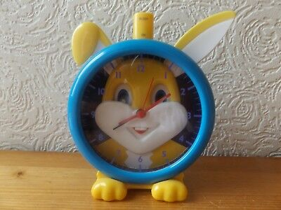 Child's Rabbit Alarm Clock With Moving Eyes And Ears.