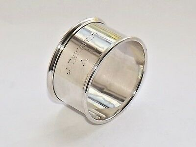 GOOD QUALITY 25g HALLMARKED SOLID SILVER STERLING NAPKIN RING HM BIRMINGHAM 1925
