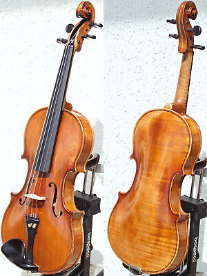 Fine ANTIQUE VIOLIN, probably French. Gorgeously WARM & JUICY TONE!