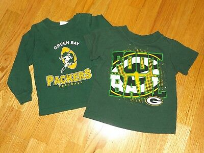 Green Bay Packers Nfl Long Sleeve & Short Sleeve T Shirts 4T So Nice Cotton