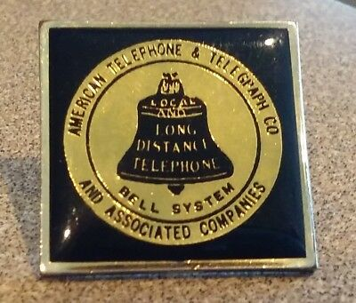 American Telephone & Telegraph Co Bell System lapel pin pre-owned