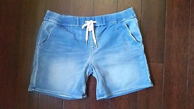 Size 14, Marina luxe lounge short, light luxe indigo, Jeanswest