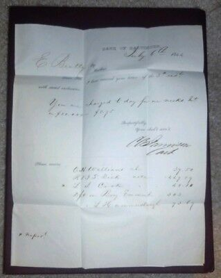 Antique 1844 Dated Letter / Cover From The Bank Of Baltimore Very Nice Ephemera