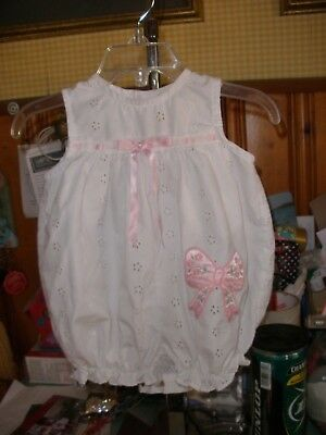 Vintage Baby Togs White Eyelet Baby Bubble Romper 3-6 Months