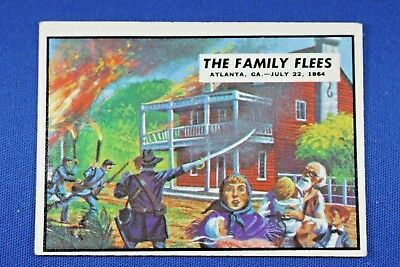 "1962 Topps Civil War News - #75 ""The Family Flees"" - VG/Ex Condition"