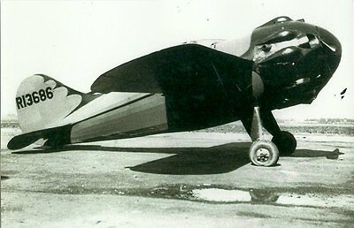 """LOOSE SPECIAL RACING AIRPLANE 5"""" x 7"""" BLACK & WHITE PHOTOGRAPH"""