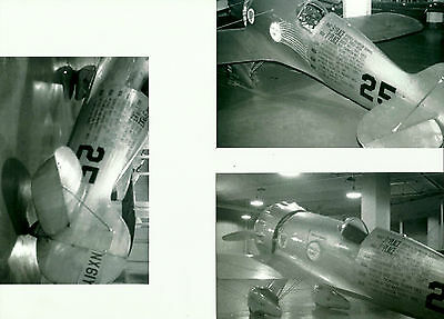 Lot Of 3: Set 112 Roscue Turner's Wedell-Willams Racer #25 Nr61Y B&w Photographs