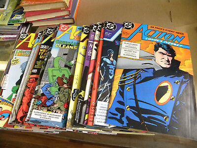 DC 1988 17 issues ACTION COMICS WEEKLY #603 to #641 Superman Deadman plus