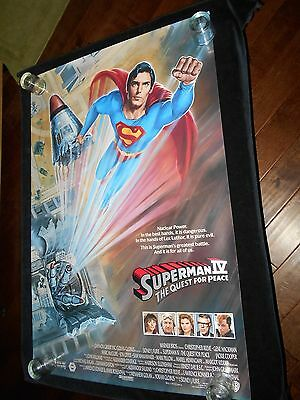 Superman IV Original Rolled One Sheet Poster  Sci Fi   Christopher Reeve