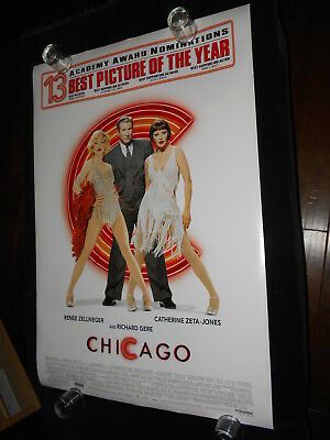 Chicago  Original Double Sided Rolled One Sheet  Rene Zellwegger  Musical