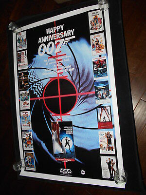 James Bond 25th Anniversary Original Rolled One Sheet   007