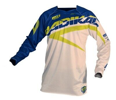 Radikal Racing MX 2016 Jersey White/Blue Mens All Sizes