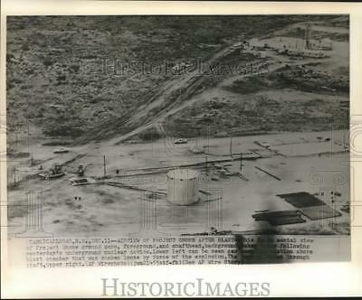 1961 Press Photo Aerial View of Underground Nuclear Test, New Mexico - nox41561