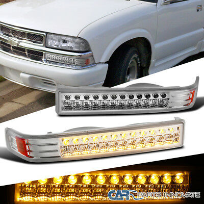 1998-2004 Chevy S10 Blazer Sonoma Pickup Clear LED Bumper Singal Parking Lights