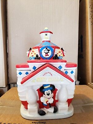 Disney Mickey Mouse City Hall Toontown Cookie Jar