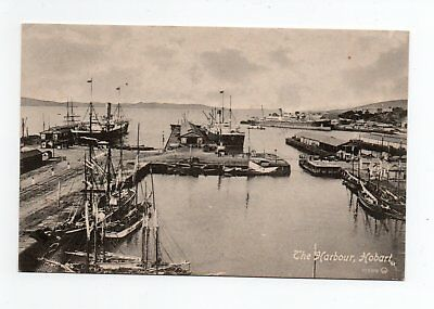 TASMANIA - The Harbour, Hobart. Early Postcard.