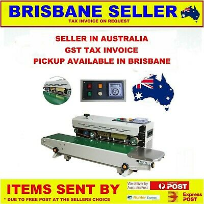 CONTINUOUS AUTOMATIC PLASTIC BAG SEALING MACHINE PACKAGING Australian Seller GST